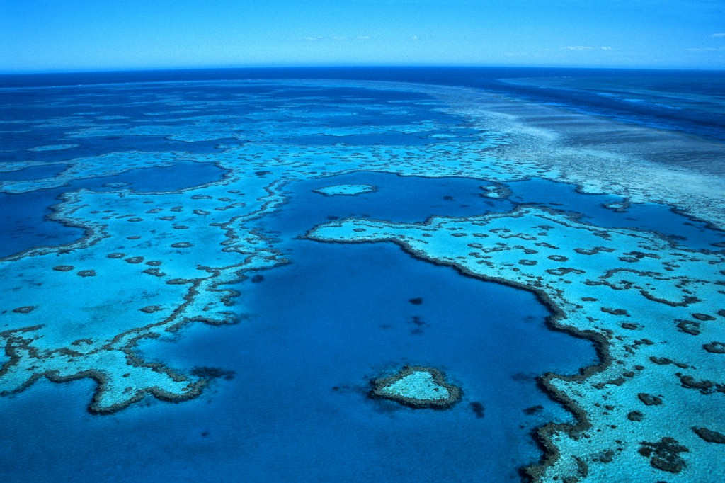 Aerial of the Great Barrier Reef