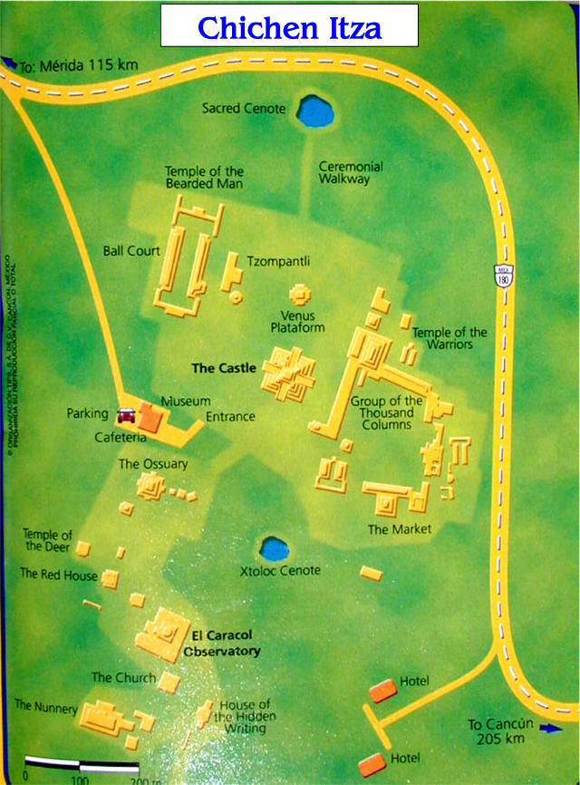 Plan Chichen Itza