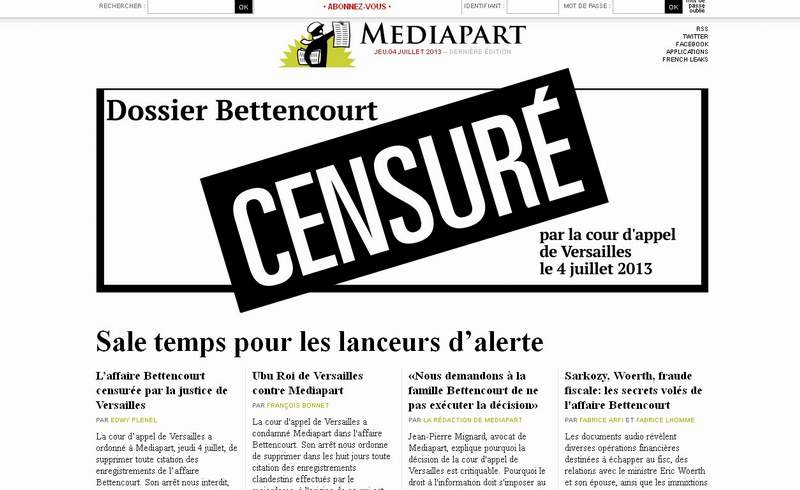 Censure dossier Bettancour
