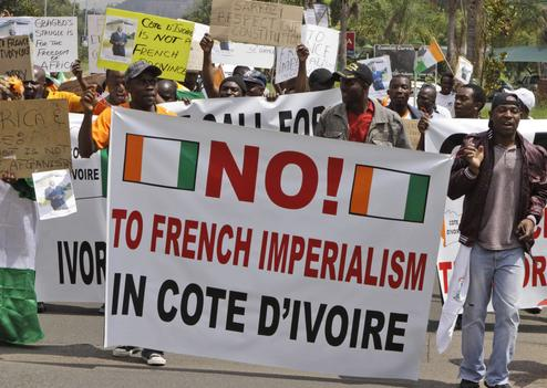 South Africa Ivory Coast Protest