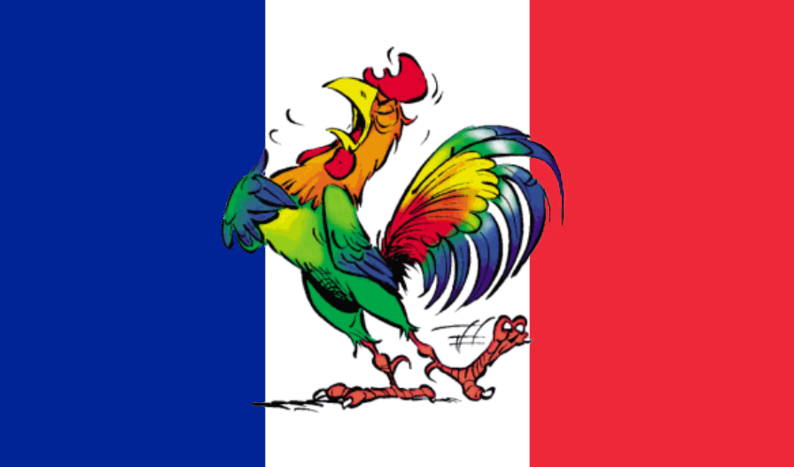 Drapeau France Coq Football