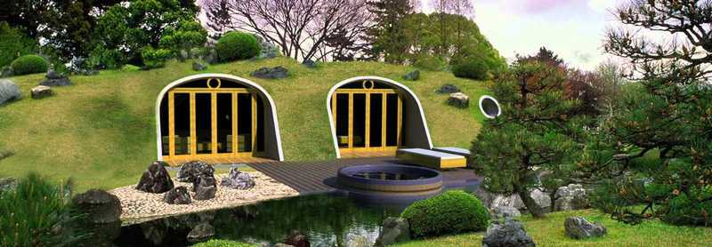 tout simplement g nial une maison de hobbit construire en 3 jours seulement les moutons. Black Bedroom Furniture Sets. Home Design Ideas
