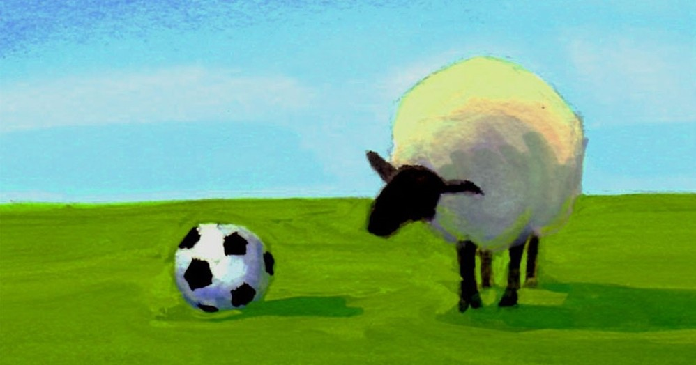 Meg+McLean+soccer+ball+sheep