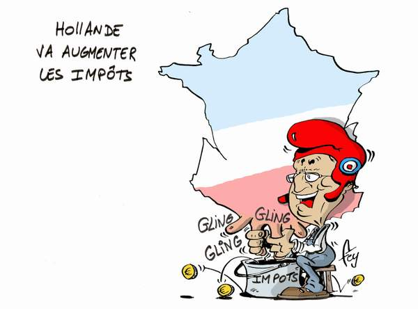 hollande augmente impots