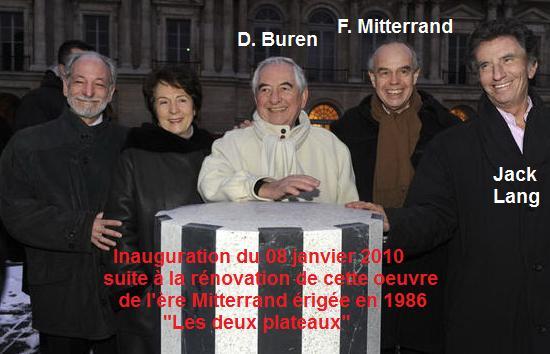 Colonnes de Buren - Inauguration