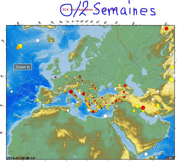 seismes 2 semaines