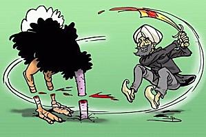 Caricature-les-Occidentaux-font-la-politique-de-l-Autruche-