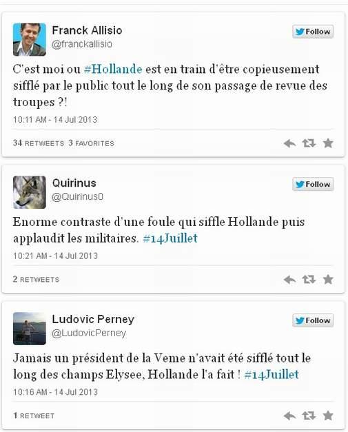 Hollande sifflé