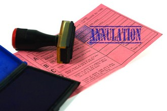 annulation de permis de conduire