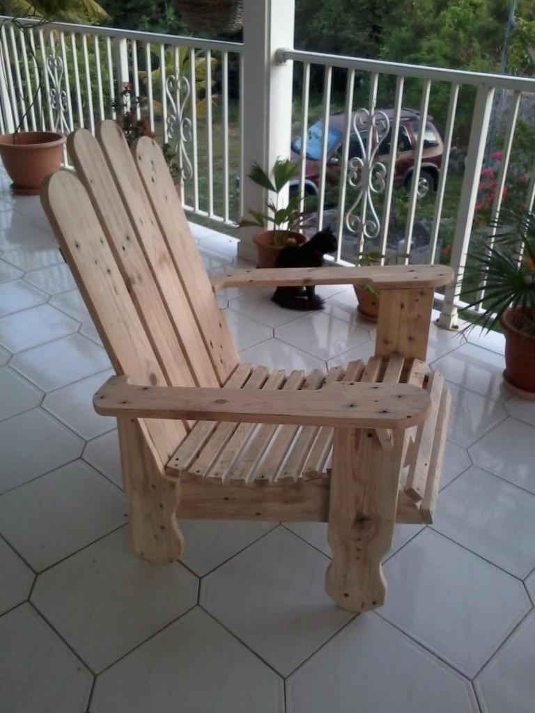 fauteuil avec 2 palettes «lourdes» 2