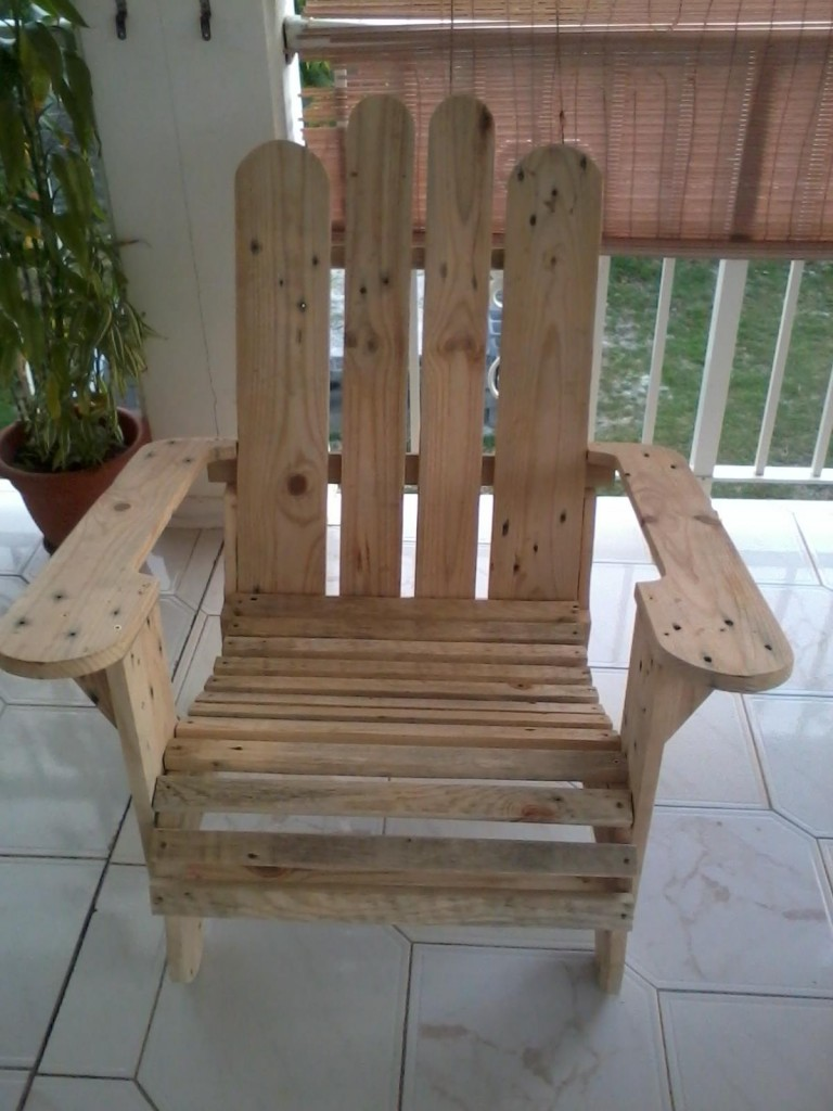 fauteuil avec 2 palettes «lourdes»