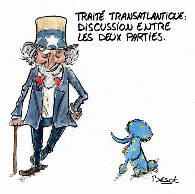 Traité transatlantique tafta usa europe