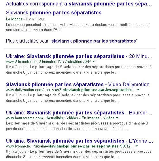 Slaviansk afp google actu