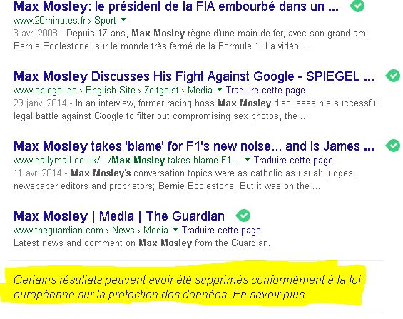 max mosley effets streysand