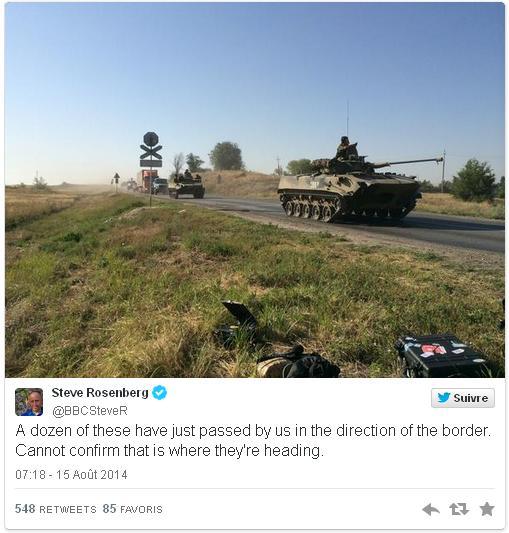 BBC colonne blindée russe