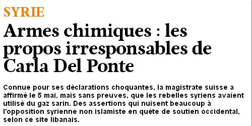 Courrier international carla del ponte Syrie