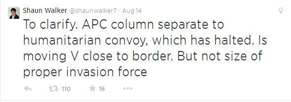 Shaun Walker colonne blindée