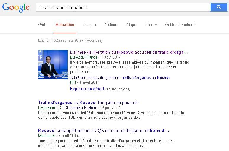 Trafic d'organes recherche google