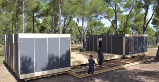 m j nouveau concept la pop up house 200 euros le m tre carr et 4 jours seulement pour le. Black Bedroom Furniture Sets. Home Design Ideas