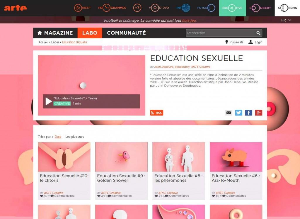 éducation sexuelle arte
