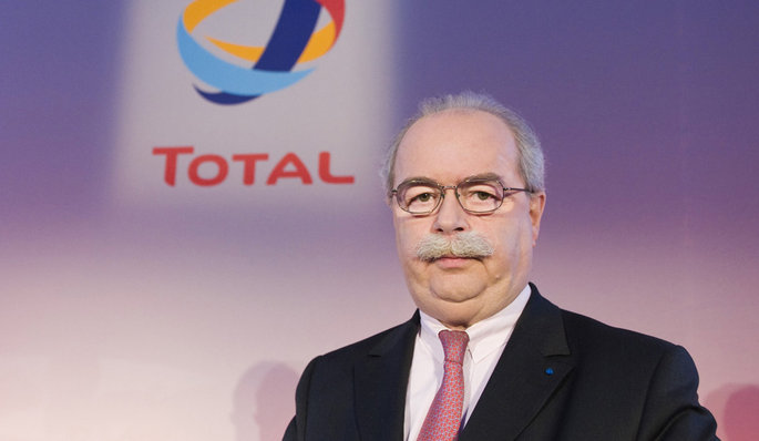 Christophe de Margerie, Chief Executive Office of French oil company Total, attends the company's 2008 annual results presentation in Paris