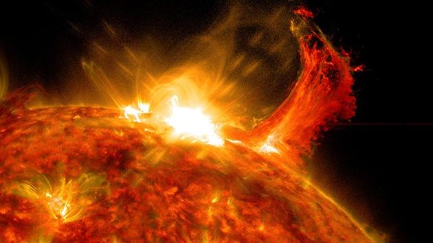 Eruption solaire M7