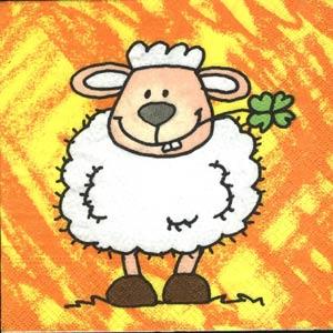 serviette-animaux-mouton-hu