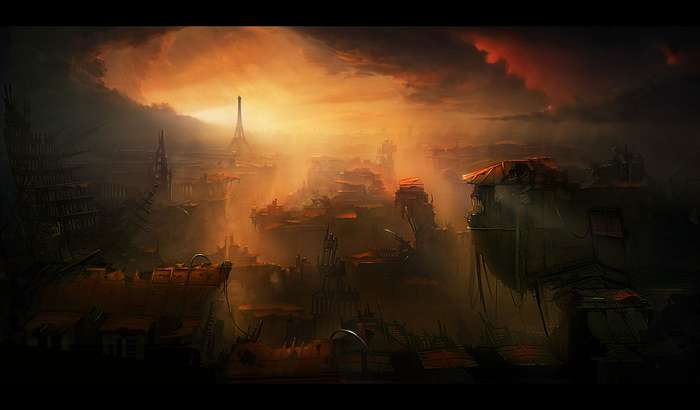 20141102200554!Eiffel_tower_paris_sunset_ruins_apocalypse_artwork_desktop_1280x750_hd-wallpaper-25977
