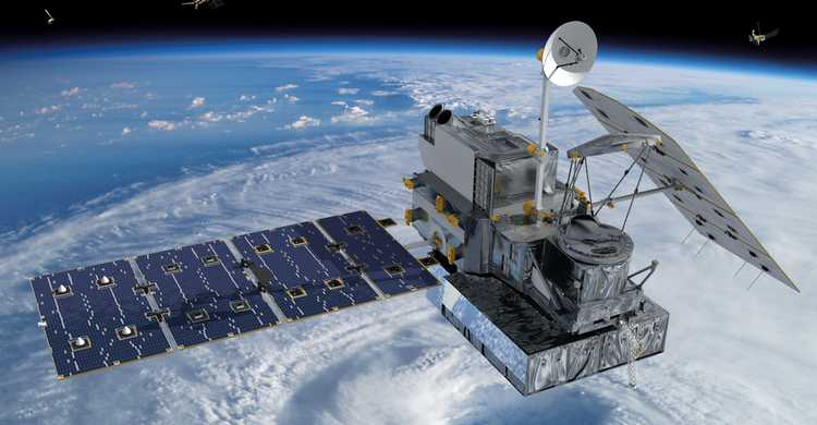 Visualization_of_the_GPM_Core_Observatory_and_Partner_Satellites