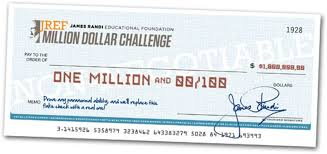 One million dollars challenge
