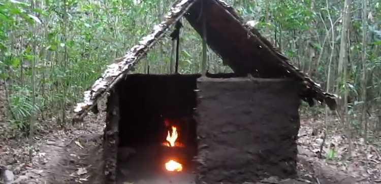 cabane bois torchi