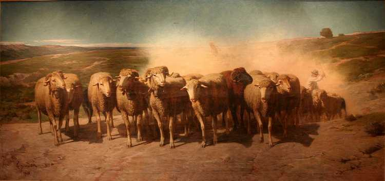 Joudan-Troupeau_de_moutons_en_avant-garde_du_troupeau