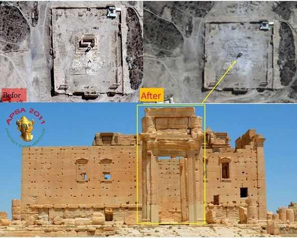 Daech temple détruit