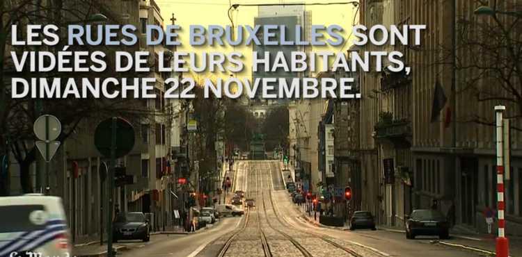 Bruxelles rues vides attentats