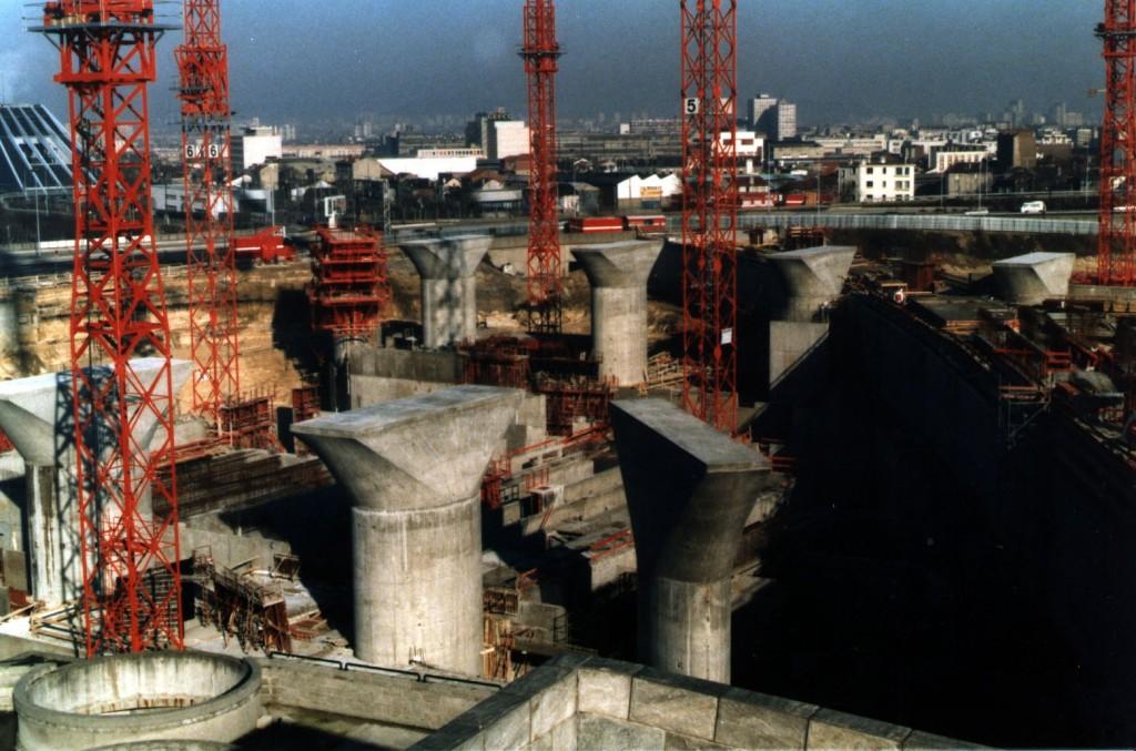Les 12 piles des fondations