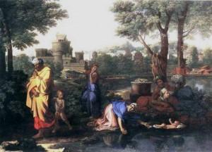 Moïse abandonné aux eaux - Nicolas Poussin