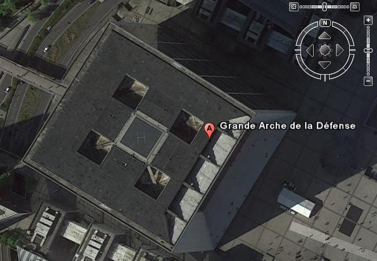 Topographie Arche de la Défense