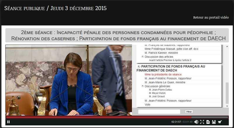 participation de fonds français financement daech