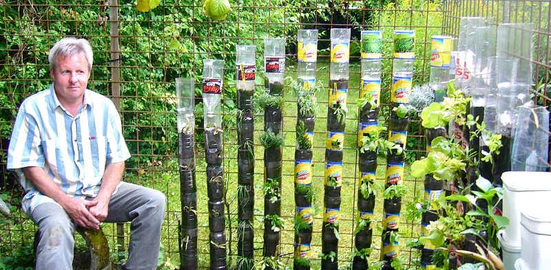 jardin bouteilles - Comment Faire Un Jardin Vertical