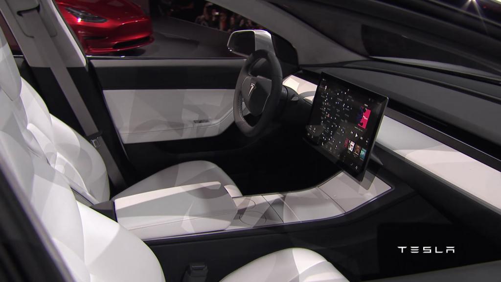 Intérieur Tesla Model 3