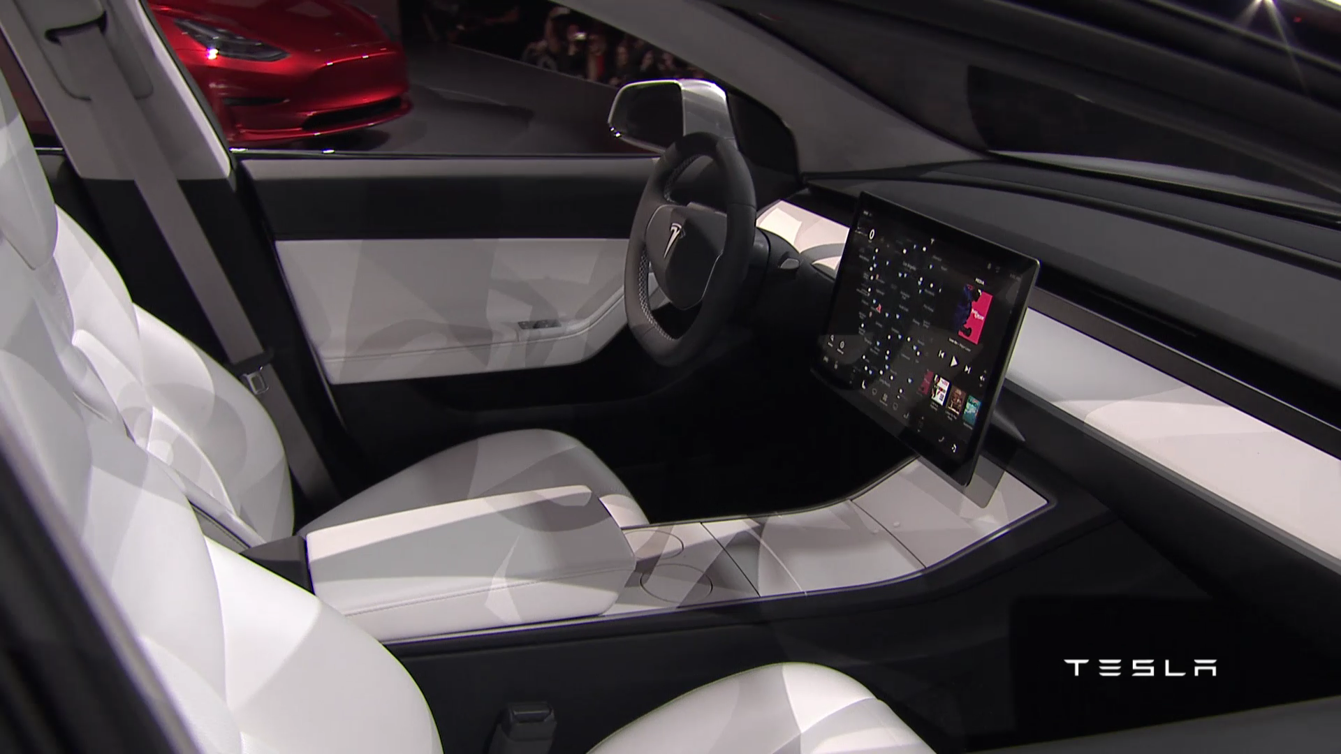 Int rieur tesla model 3 les moutons enrag s for Interieur tesla model s