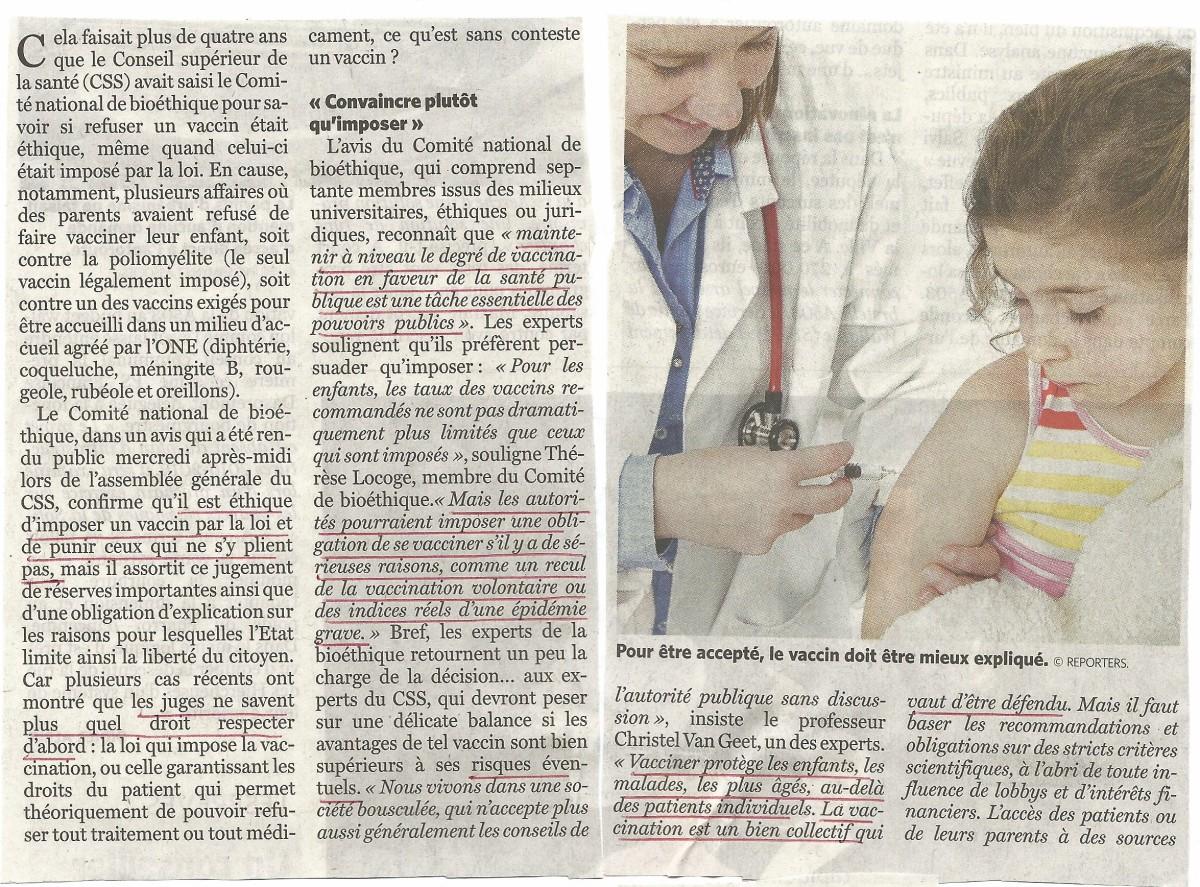 Ethique d'imposer un vaccin - 01