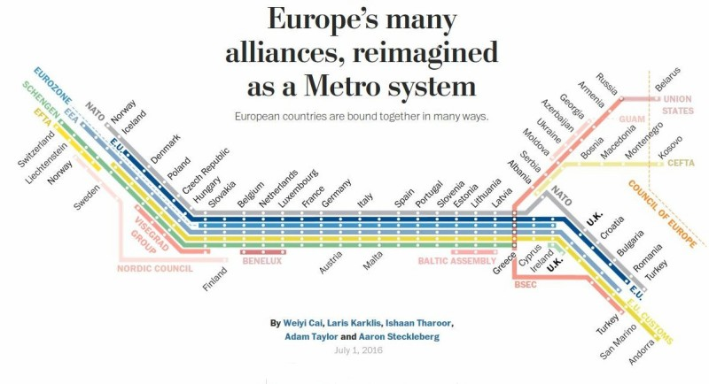 Alliances europe carte de métro
