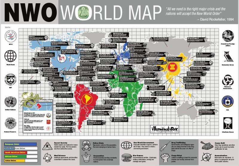 Carte du monde NWO