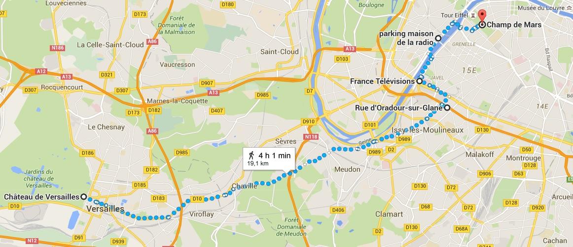 plan de marche